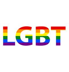 Lgbt lesbian gay bisexual transgender text in vector