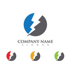 lightning logo template icon design vector image