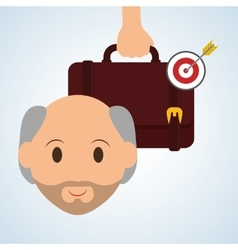 Management design Person icon Isolated vector image