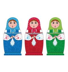 Matryoshka Russian doll vector
