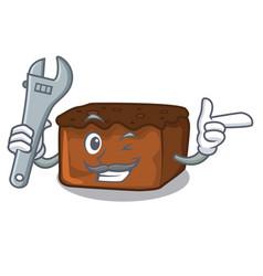 Mechanic brownies mascot cartoon style vector