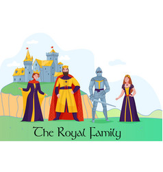medieval kingdom royalty composition vector image