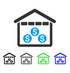 Money depository flat icon vector