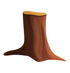 Nature tree stump icon cartoon style vector
