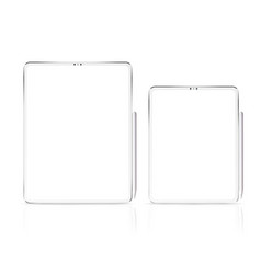 new tablet pro x isolated vector image