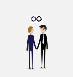 partnership or cooperation concepttwo business vector image