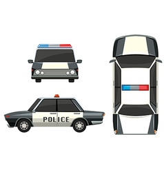 Police car from different views vector image