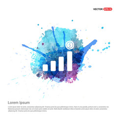 Presentation on business growth icon - watercolor vector