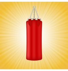 Red boxing bag vector
