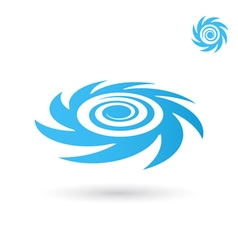Sea tornado logo storm vector