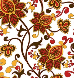 Seamless pattern of paisley floral ornament vector image