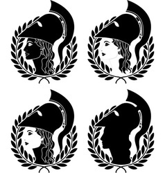 Set of athena profiles stencils vector
