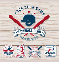 Set of baseball or softball club badge vector