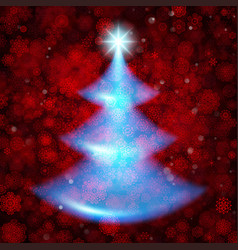 shiny christmas tree holiday template eps 10 vector image