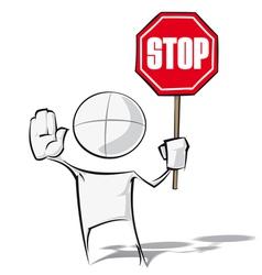 Simple people stop vector