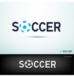 simple soccer logo vector image