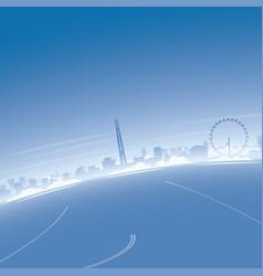 Singapore skyline aerial view vector