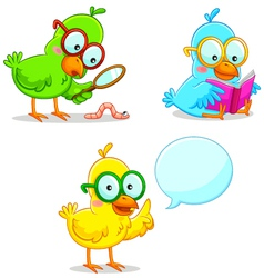 smart bird vector image