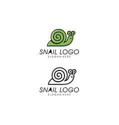 snail animal logo design template vector image