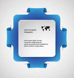 Square infographic template with blue color vector
