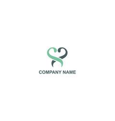 swirl balance beauty company logo vector image