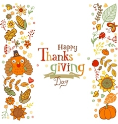 thanksgiving greeting card vector image
