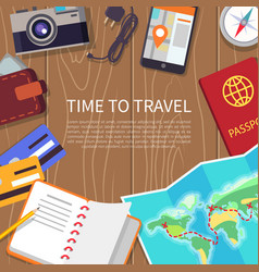 Time to travel poster set vector