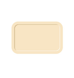 Tray isolated salver empty on white background vector