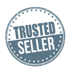 trusted seller sign or stamp vector image