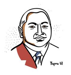 Tupou vi portrait vector
