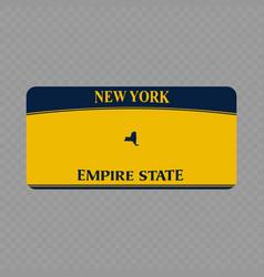 vehicle registration plate vector image