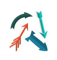 vintage arrows in flat style icon vector image