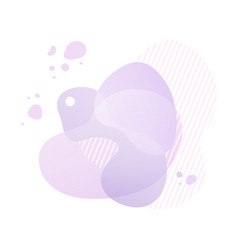 violet gradient shapes with geometric lines vector image