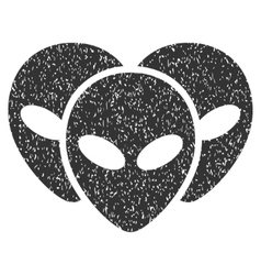 Visitor heads grainy texture icon vector