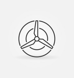 wind energy concept icon vector image