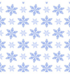 Winter pattern with snowflakes vector