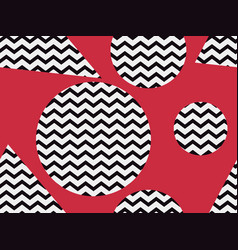 zigzag seamless pattern with black and red color vector image