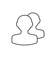 Avatar thin line icon vector image vector image