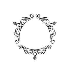 black vintage three-sided classic frame vector image