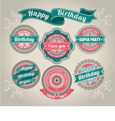 Calligraphic Design Elements birthday vector image vector image