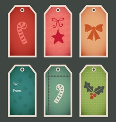 Holiday christmas gift tags vector image vector image