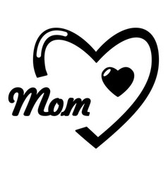 mother day icon simple style vector image vector image