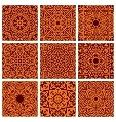 Arabic seamless ornamental pattern backgrounds vector image
