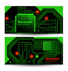 electric board banners set vector image vector image