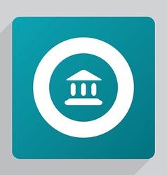 Flat tribunal icon vector