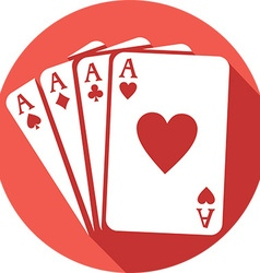 Four Aces Icon vector image vector image