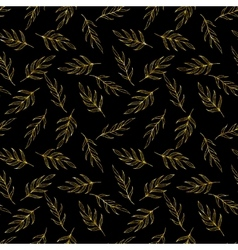Gold glitter herb pattern vector image vector image
