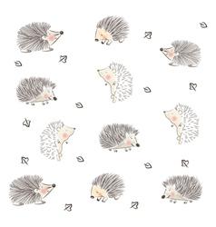 Hedgehog Pattern vector image vector image