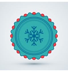 Merry Christmas Badge vector image