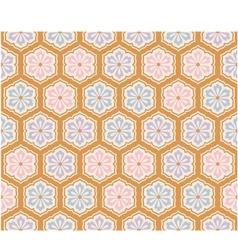 seamless japanese flower pattern vector image vector image